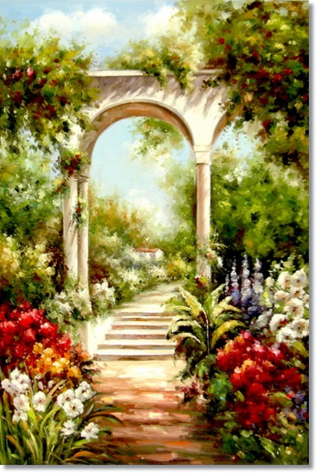 beautiful-handmade-natural-scenery-painting-garden-scenery