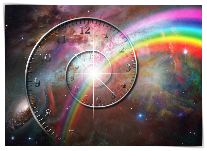 bigstock-spiral-clock-with-rainbow-and-33773150
